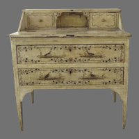 19th Century Painted Italian Small Desk Side Table