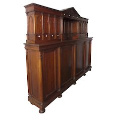 Large Long Narrow French Louis XIII Style Walnut Meuble de Sacristie Gothic