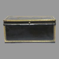 Leather Bound Chinese Export Campaign Military Trunk c 1850