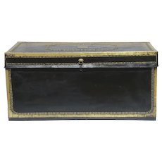 Leather Bound Chinese Export Trunk c 1850