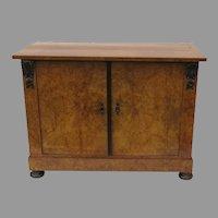 19th Century Birch Biedermeier Two Door Cabinet