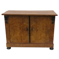 19th Century Birch Biedermeier Two Door Cabinet