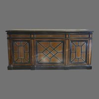 French 19th Century Narrow Ebony and Walnut Sodeboard Buffet by JEANSELME FILS CIE