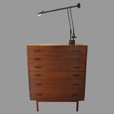 Vintage 1960's Tall Highboy Dresser Chest of Drawers Jack Cartwright for Founders