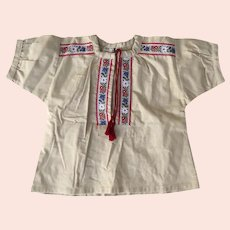 Vintage Children's size 4-5 90's Shirt by Barli Marque Deposee Made in Switzerland Swiss Tyrolean Alpine New with Tags