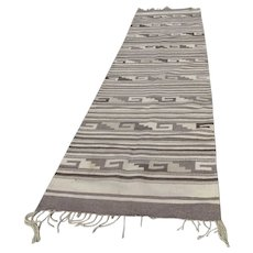 Vintage Rug Runner Mexican Southwest Decor Mexican Weaving