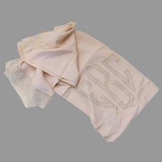 Vintage Inset Lace Bedcover Bedspread