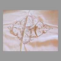 """Pair Two Vintage Bed Cover Blanket Bedspreads Embroidered Monogram Fine Quality 70"""" by 68 1/2"""""""