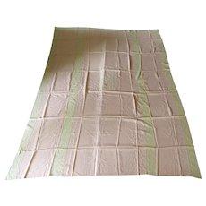 Vintage Eleanor Beard Blanket Cover Bedspread Inset Lace Monogram