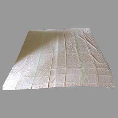 Vintage Lace Bed Cover Bedcover Bedspread Blanket Cover Monogram