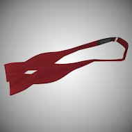 Red Real Vintage Silk Bow Tie Adjustable by Beau Ties Ltd. of Vermont Hand Sewn
