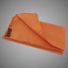 Vintage 100% Silk Pocket Square Made in Italy Orange