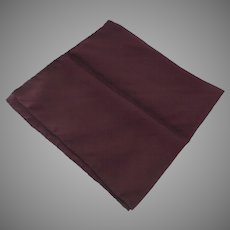 Vintage 100% Silk Pocket Square Made in Italy Burgundy