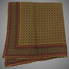 Vintage 100% Silk Pocket Square Made in Italy