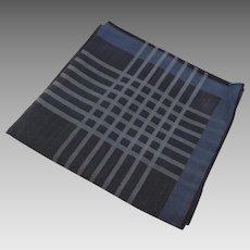 Vintage 100% Fine Cotton Pocket Square Handkerchief Blues