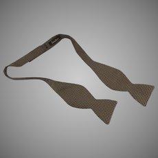 Vintage 1970's Adjustable Silk Bow Tie Neiman Marcus