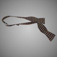 Vintage 1970's Adjustable Silk Bow Tie Polo by Ralph Lauren