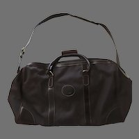 Roots Made in Canada Nylon Leather Duffle Overnight Gym Carry-on