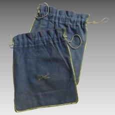 Vintage Silver Storage Bags Drawstring R. & S. Pogue Cincinnati