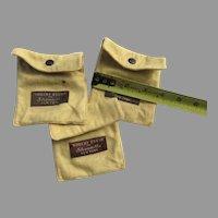 Group of 3 Vintage Felt  Silver Storage Bags Snap Closure Robert Ensko New York