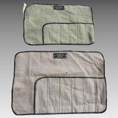 Three Vintage Black Starr & Frost Felt Silver Flatware Bags Rolls