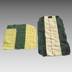 Two Vintage Felt Silver Flatware Storage Bags Lux, Bond & Green Charles W. Warren