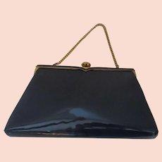 Vintage Coblentz Original Blue Patent Bag Purse Clutch