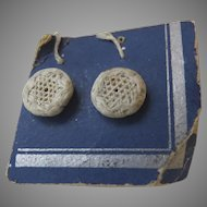 1900's Dorset Linen Small Buttons x 2