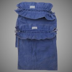 2 x Large Vintage Felt Silver Storage Bags John Wanamaker Philadelphia, New York, Paris, London