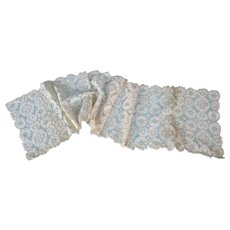 Vintage Older Cluny Lace Runner Doilies Un-Finished Beautiful Work Re-Purpose 9 Pieces