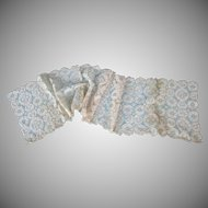 Vintage Older Lace Runner Doilies Un-Finished Beautiful Work Re-Purpose 9 Pieces Leavers Mill