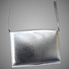 Vintage Silver Calf Jay Herbert Handbag Purse with Original Box