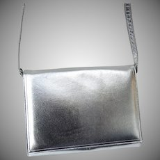 Vintage Silver Calf Jay Herbert Handbag Purse with Original Box