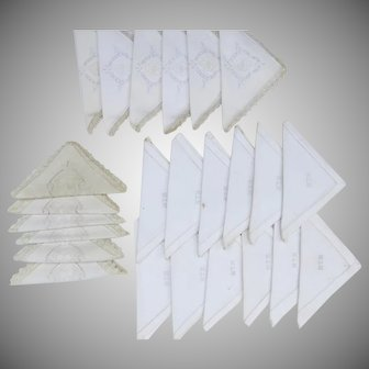 Group of 24 Vintage Napkins Embroidered Good Quality