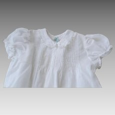 Two Vintage 1940's Baby Gowns Dresses Fine Quality Embroidered  B. Altman New York