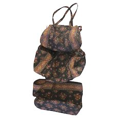 e56cfb205e79 Basingers Vintage Collectibles and Fashions.  25 USD. Retired Vera Bradley  Chocolat Three Piece Luggage Tote Duffle Set