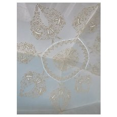 Beautiful Doilies and Centerpiece Fine Work Un-finished Embroidered Linen