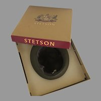 Stetson Fedora Homburg Hat Mr. Carefree Style Original Box Loden Green