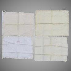 Group of Six Boudoir or Baby Pillowcases Repair Repurpose