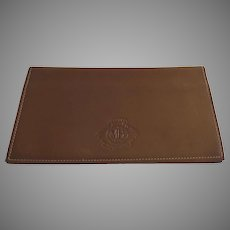 Vintage Ghurka Marley Hodgson Chestnut Tan Leather Checkbook Cover