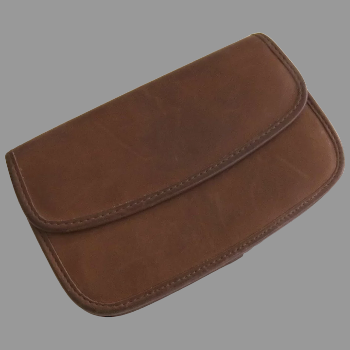 Leather Wallet Coin Purse Large Wallet Clutch Vintage Mid Century