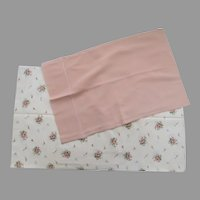 2 x Vintage Boudoir Pillow Cases Shams Pinks