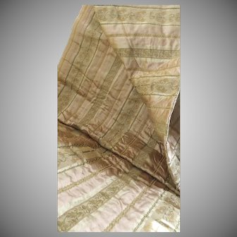 """Vintage Coraggio Textiles Brocade """"Antique Rose"""" Large Fabric Sample 47"""" by 100"""" Made in Italy"""
