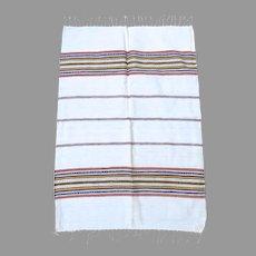 Vintage Hand Woven Cotton Stripe Towel