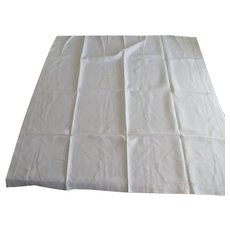 """Vintage Square 50"""" Linen Tablecloth Pull Work"""