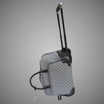 Vintage Ralph Lauren Wheeled Weekender Bag Luggage