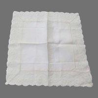 Beautiful Lace Linen Handkerchief Wedding