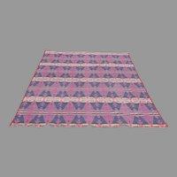 Vintage Cotton Cabin Camp Native American Theme Blanket Reversible Tee Pee Arrows