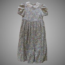 Vintage Laura Ashley Child's 8 Dress Floral Lace Linen Collar New, no Tags