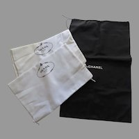 1 x Chanel large drawstring Dust Bag 2 x Prada Large Drawstring Dust Bags Storage